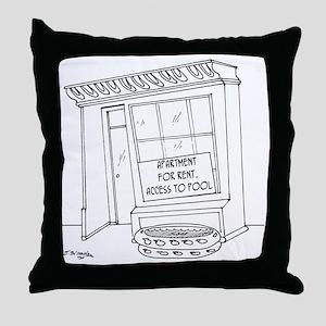 5922_pool_cartoon Throw Pillow