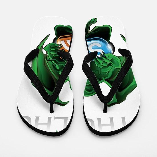 SkypeOfCthulhu Full Logo 10x10 Flip Flops