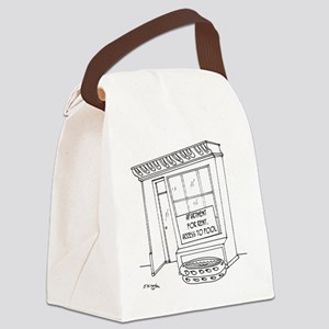 5922_pool_cartoon Canvas Lunch Bag