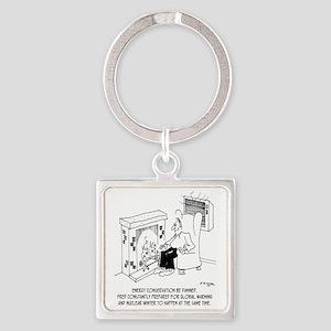 5919_HVAC_cartoon Square Keychain