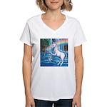 Rainbow Unicorn Women's V-Neck T-Shirt