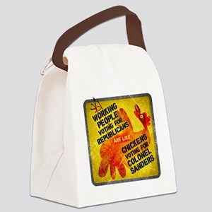 Working People Voting Repug like  Canvas Lunch Bag