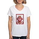 Love You Beary Much Women's V-Neck T-Shirt