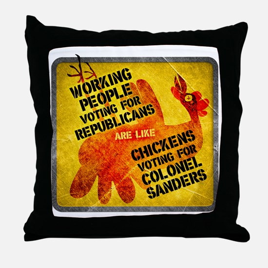 Working People Voting Repug like a ch Throw Pillow