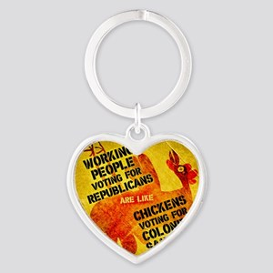 Working People Voting Repug like a  Heart Keychain