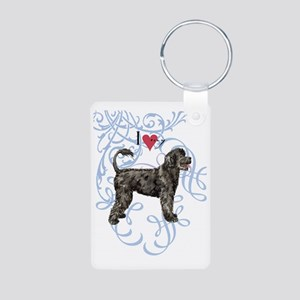 PWD-oval charm Aluminum Photo Keychain