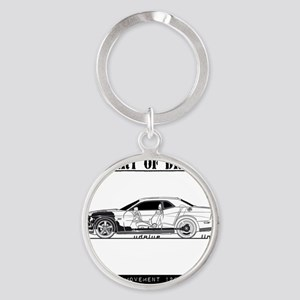 car drive auto race dc Round Keychain