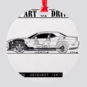 car drive auto race dc Round Ornament