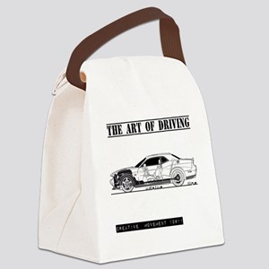car drive auto race dc Canvas Lunch Bag