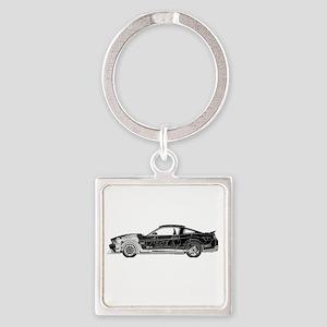 car drive auto race fm Square Keychain