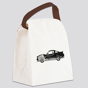 car drive auto race fm Canvas Lunch Bag