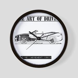 car drive auto race ccw Wall Clock