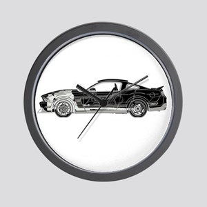 car drive auto race fm Wall Clock