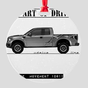car drive auto race ft Round Ornament