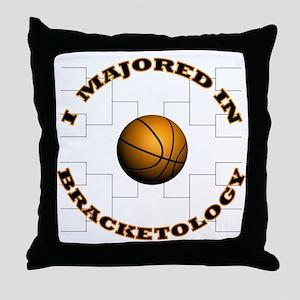 Major-Bracketology Throw Pillow