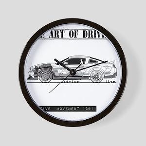 car drive auto race fmw Wall Clock