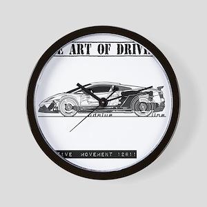 car drive auto race lg Wall Clock