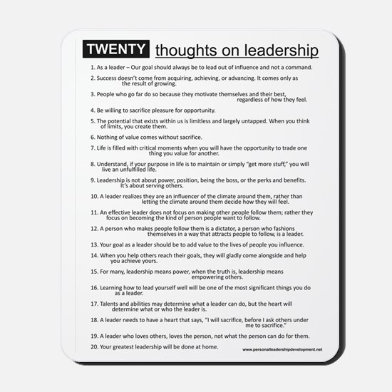 leadership Mousepad
