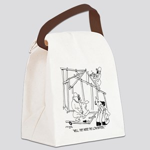 5776_construction_cartoon Canvas Lunch Bag