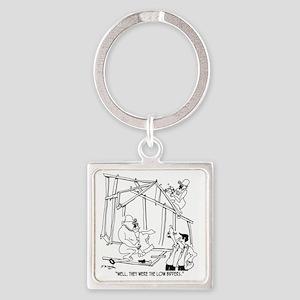 5776_construction_cartoon Square Keychain