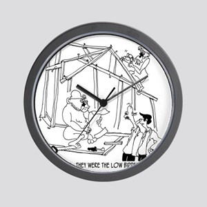5776_construction_cartoon Wall Clock