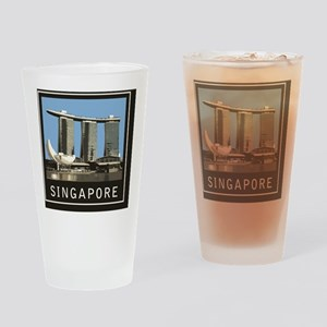 Singapore1Postcard1 Drinking Glass