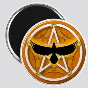 Crow Pentacle - Yellow Magnet