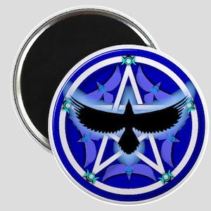 Crow Pentacle - Blue Magnet