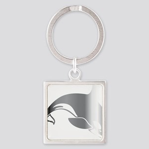 killer whale 2 Square Keychain