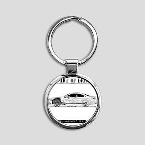car drive auto race mb Round Keychain