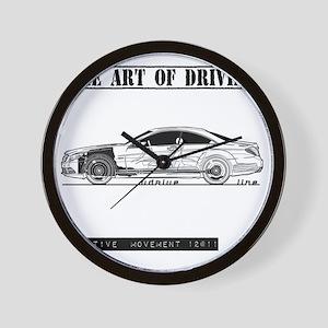 car drive auto race mb Wall Clock