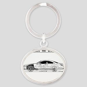 car drive auto race mb Oval Keychain
