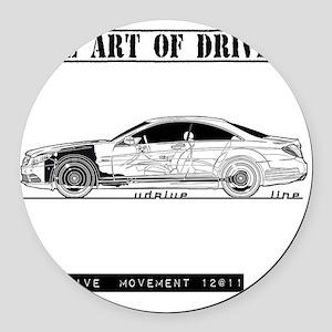 car drive auto race mb Round Car Magnet