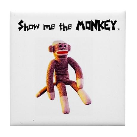 Show Me The Monkey Tile Coaster