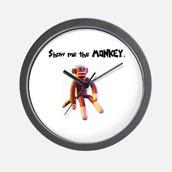 Show Me The Monkey Wall Clock