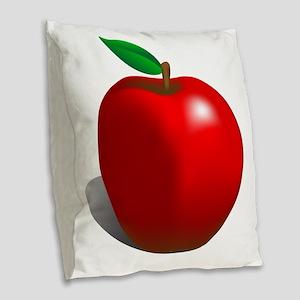 red apple Burlap Throw Pillow