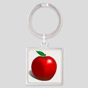 red apple Square Keychain