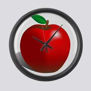 red apple Large Wall Clock