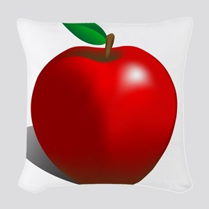 red apple Woven Throw Pillow