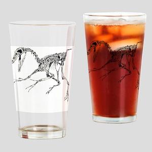 BW coaster 1 dino  Drinking Glass