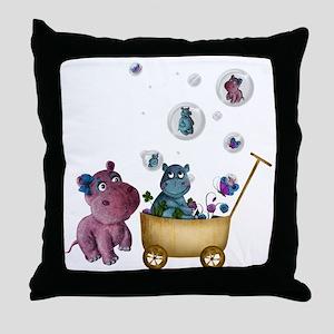 funhippos Throw Pillow