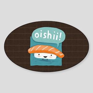 oishiiminiwallet Sticker (Oval)