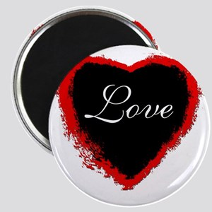 valentinedayblackheart love Magnet