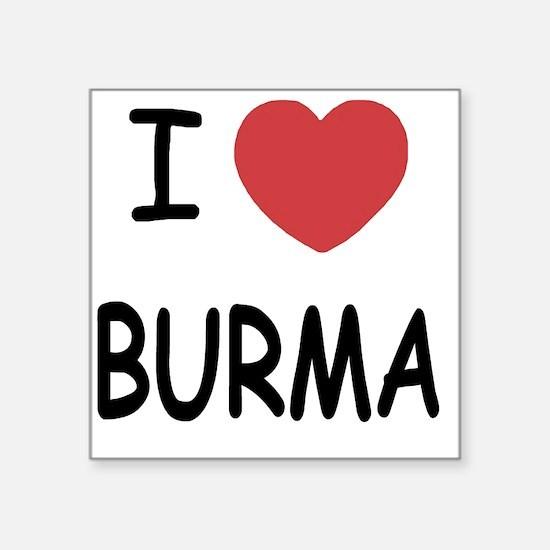 "BURMA Square Sticker 3"" x 3"""