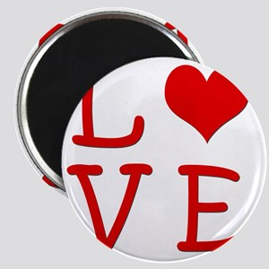 valentines day love 3 red Magnet