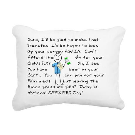 Angry Pharmacist Rectangular Canvas Pillow