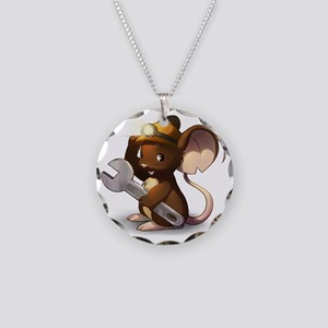 Mouse Maintenance Necklace Circle Charm