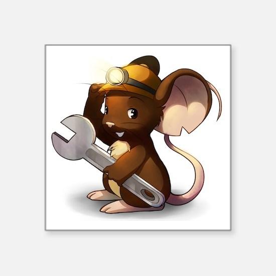 "Mouse Maintenance Square Sticker 3"" x 3"""