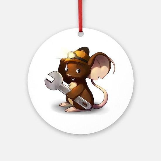 Mouse Maintenance Round Ornament