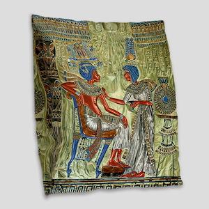 Tutankhamons Throne Burlap Throw Pillow